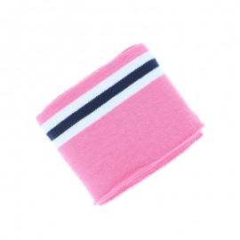 Poppy Striped Edging Fabric (135x7cm) - Pink Bayadère