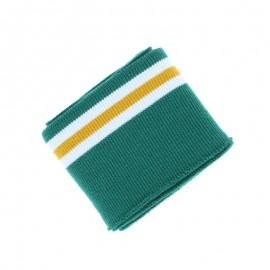 Poppy Striped Edging Fabric (135x7cm) - Green Bayadère