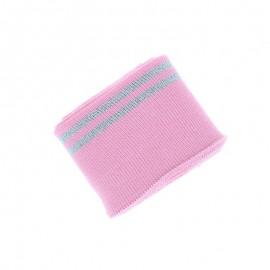 Poppy Edging Fabric (135x7cm) - Pink Duo