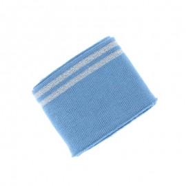 Poppy Edging Fabric (135x7cm) - Grey blue