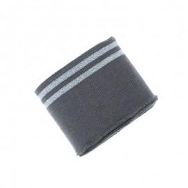 Bord Cote Poppy Duo Lurex (135x7cm) - gris foncé