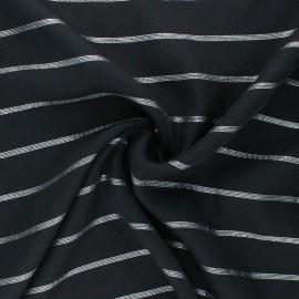 Tissu voile de viscose Lurex Queen - Noir/argent x 10cm