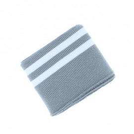 Poppy Edging Fabric (135x7cm) - Grey/White Double Stripe