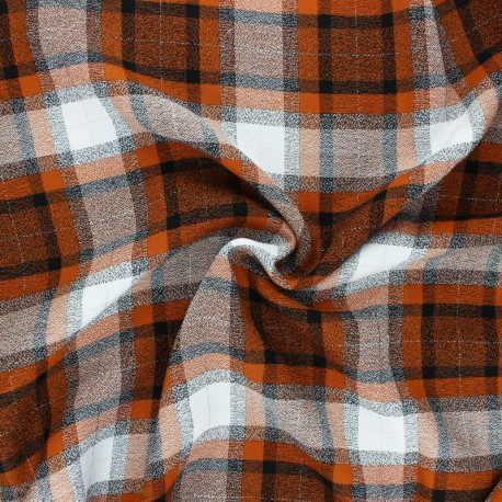 Lurex Viscose fabric - orange Dundee x 10cm