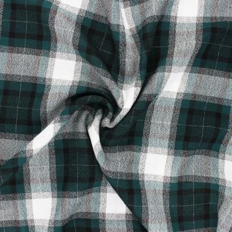 Lurex Viscose fabric - green Dundee x 10cm