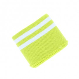 Poppy Edging Fabric (135x7cm) - Lime/White Double Stripe