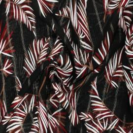 Tissu viscose Lurex Palm - Noir x 10cm