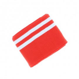 Poppy Edging Fabric (135x7cm) - Lime/White Double Stripe