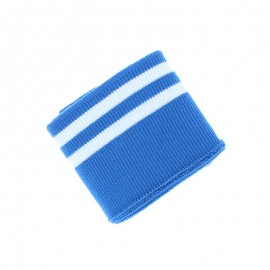 Poppy Edging Fabric (135x7cm) - Blue/White Double Stripe