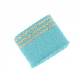 Poppy Edging Fabric (135x7cm) - Mint Trio