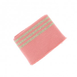 Poppy Edging Fabric (135x7cm) - Pink Trio