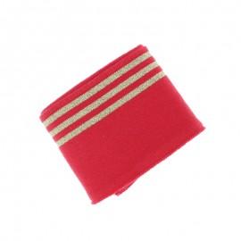 Bord Cote Poppy Trio Lurex (135x7cm) - Rouge