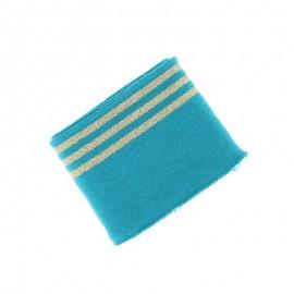 Poppy Edging Fabric (135x7cm) - Teal blue Trio