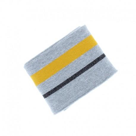 Poppy Edging Fabric (135x7cm) - Grey Simple