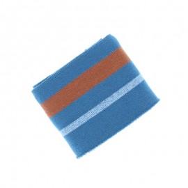 Poppy Ribbing Cuffs (135x7cm) - Blue Simple