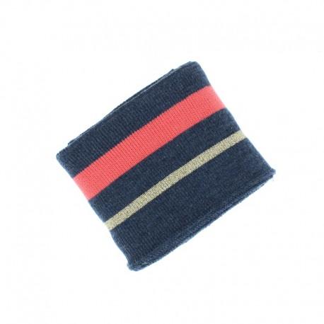 Poppy Ribbing Cuffs (135x7cm) - Navy blue Simple