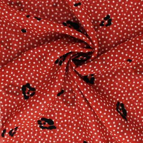 Tissu Mousseline floqué velours Allure - brique x 50cm