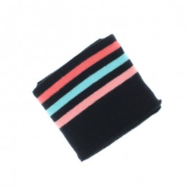 Poppy Ribbing Cuffs (135x7cm) - Black Triple Stripe
