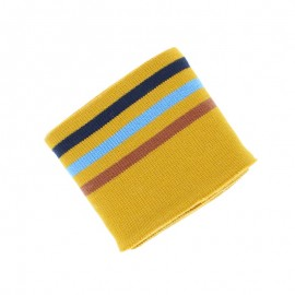 Poppy Ribbing Cuffs (135x7cm) - Ochre Triple Stripe