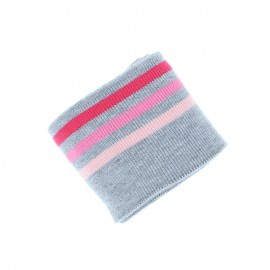 Poppy Ribbing Cuffs (135x7cm) - Grey Triple Stripe
