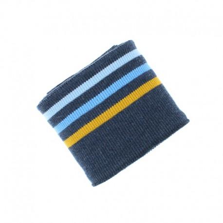 Poppy Ribbing Cuffs (135x7cm) - Navy blue Triple Stripe