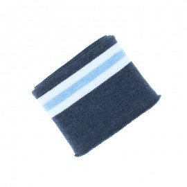 Poppy Striped Ribbing Cuffs (135x7cm) - Navy Blue