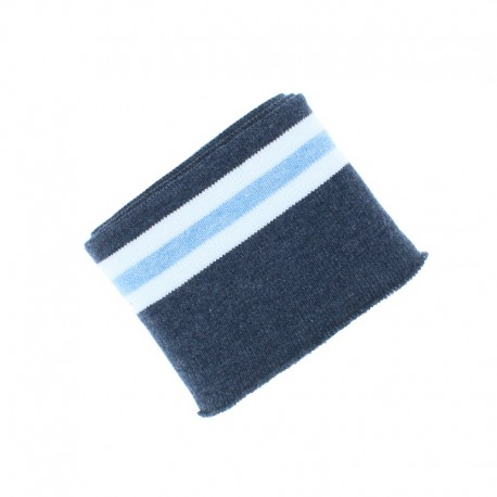 Poppy Striped Ribbing Cuffs (135x7cm) - Blue