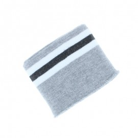 Poppy Striped Ribbing Cuffs (135x7cm) - Grey