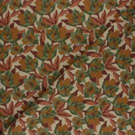 Tissu coton cretonne Zania - Marron x 10cm