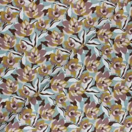 Tissu coton cretonne Zania - Mauve x 10cm