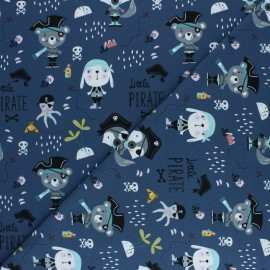 Jersey cotton fabric - Blue Little Pirate x 10cm