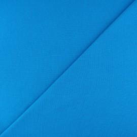 Jersey tubulaire bord-côte - bleu cyan x 10cm