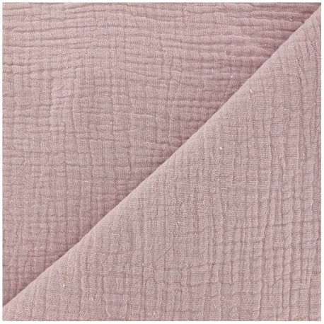 Plain Triple gauze fabric - Rose water x 10cm
