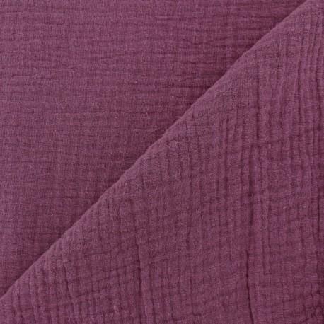 Plain Triple gauze fabric - Fig x 10cm
