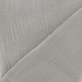 Tissu triple gaze de coton uni - milk x 10cm
