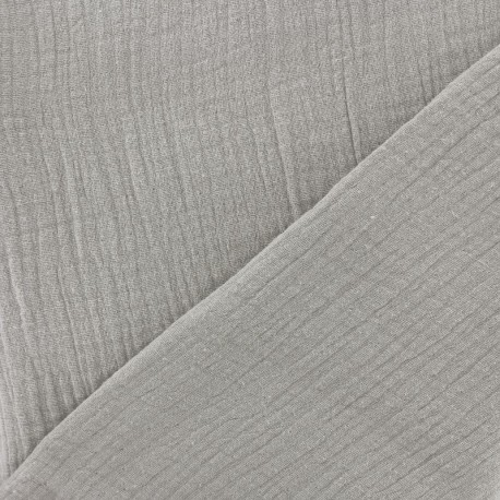 Plain Triple gauze fabric - Milk x 10cm