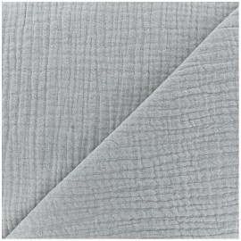 Plain Triple gauze fabric - grey x 10cm