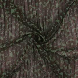 Tissu résille plissé Rapsodie - vert x 10 cm