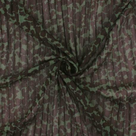 pleated mesh fabric – green Rapsodie x 10cm