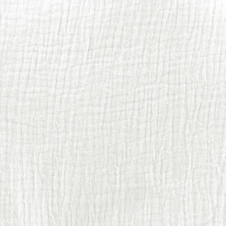 Plain Triple gauze fabric - Milk x 10cm