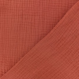 Plain Triple gauze fabric - Terracotta x 10cm