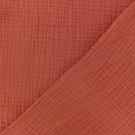 Tissu triple gaze de coton uni MPM - miel x 10cm