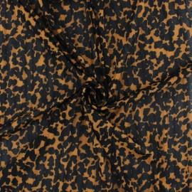 ♥ Coupon 100 cm X 150 cm ♥ Tissu résille plissé Rapsodie - orange