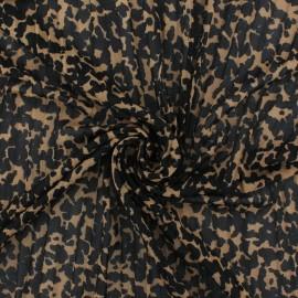 ♥ Coupon 200 cm X 150 cm ♥ Tissu résille plissé Rapsodie - taupe