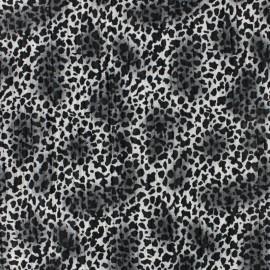 Tissu polyester Guépard - gris x 10cm
