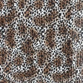 Tissu polyester plissé Guépard - gris x 10cm