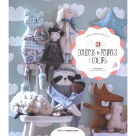 """Livre """"24 doudous & poupées à coudre"""""""