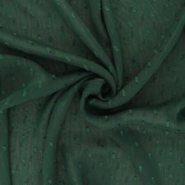 Tissu Mousseline lurex Léopard - vert x 50cm
