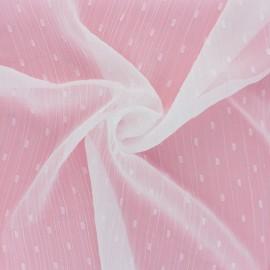 Tissu Mousseline lurex plumetis - bordeaux x 50cm
