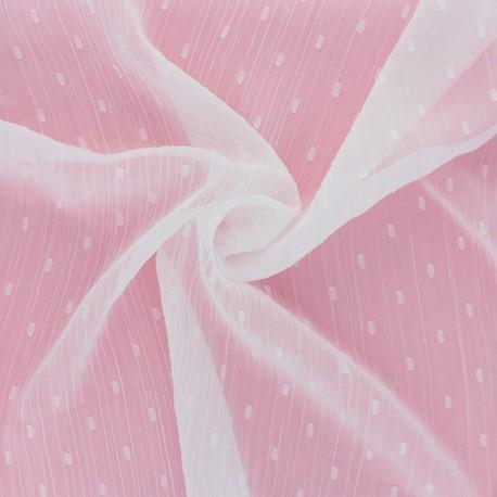 Lurex plumetis Muslin fabric - burgundy x 50cm